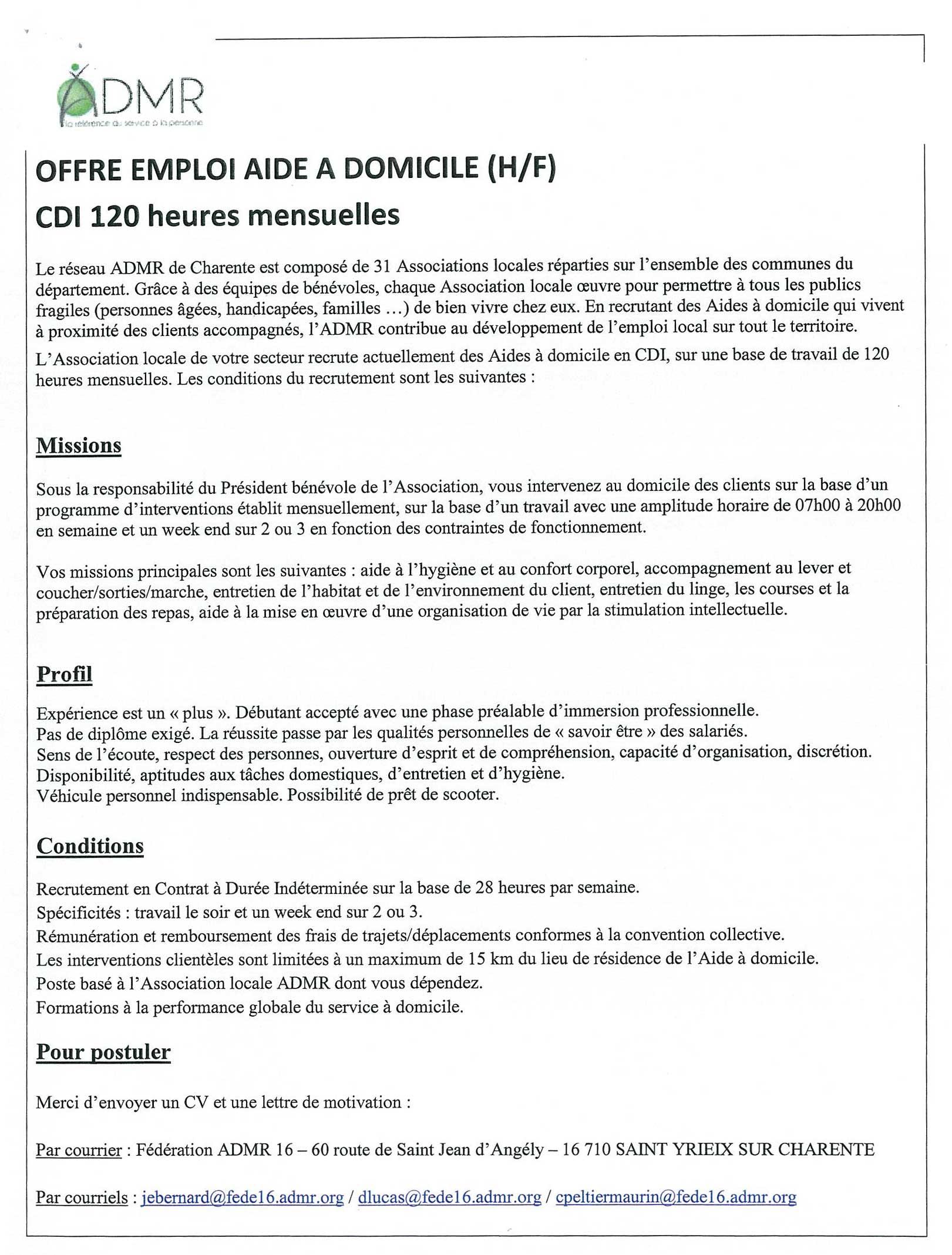 pdf  lettre de motivation aide a domicile avec experience